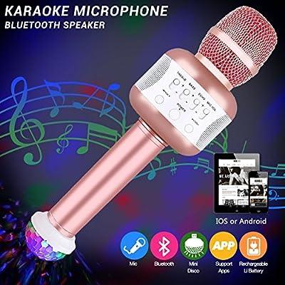 Wireless Bluetooth Microphone Rose1