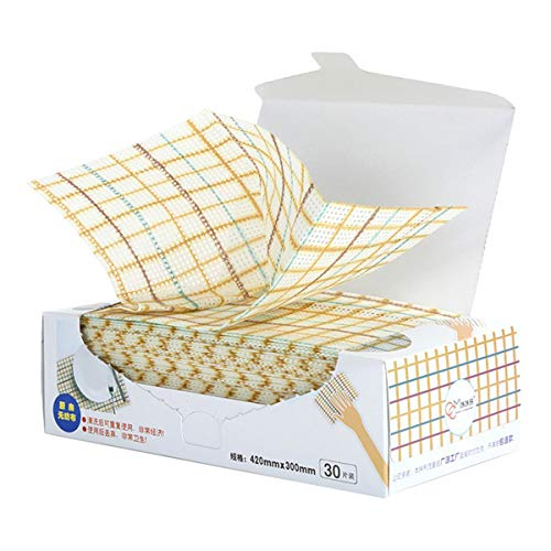 Sionoiur Cleaning Towels Disposable Dish Cloths Nonstick Fiber Reusable Handy Cleaning Wipes House Kitchen Cleaning Cloth Wiping Rags Placemats Absorbent Dry Quickly, A Box of 30 Pcs