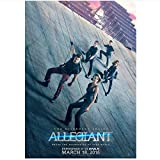 Swarouskll Divergent Allegiant Theo James Shailene Woodley Posters and Prints Canvas Painting Wall Art for Living Room Decor Gift -20x28 Inch No Frame