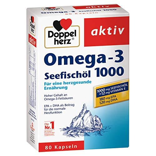 Doppelherz Omega-3 Seefischöl 1000mg 80 Kapseln, 3er Pack (3 x 80Kapseln)