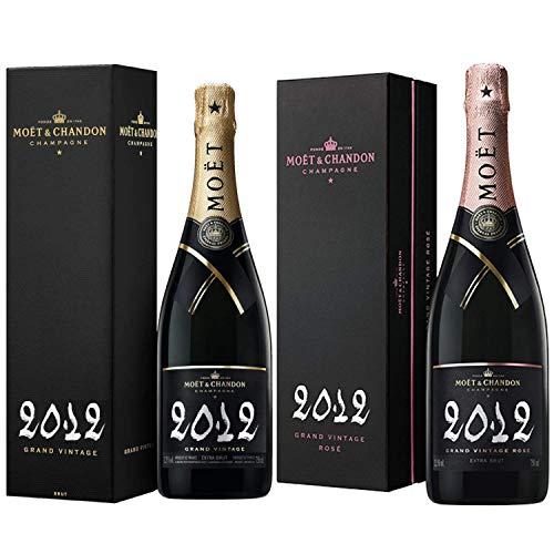 Champagne Moet & Chandon - Grand Vintage 2012 x & Grand Vintage Rosé 2012 - En el caso de 75cl