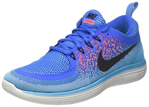 Nike Free RN Distance 2, Zapatillas de Running para Hombre, Azul (Soar/Schwarz-Hot Punch-Polarisiert Blau), 42 EU