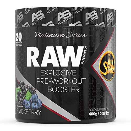 All Stars Raw Intensity Explosive Pre-Workout Booster, Blackberry, 1er Pack (1 x 400 g) Pre Workout Booster mit 16 wichtigen Inhaltsstoffen für ein perfektes, intensives Training