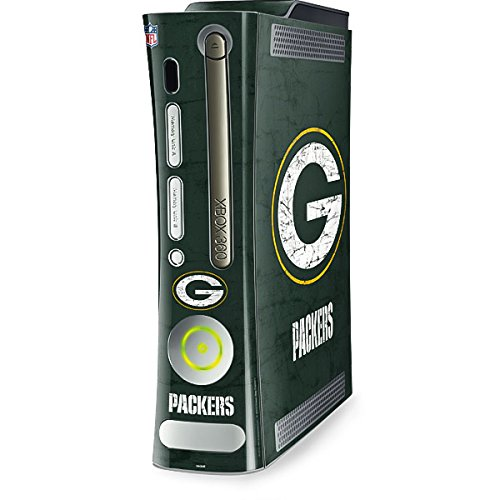 Skinit Decal Gaming Skin Compatible with Xbox 360 (Includes HDD) - Officially Licensed NFL Green Bay Packers Distressed Design