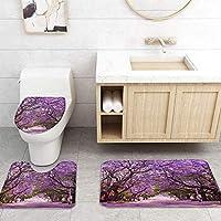 ZGDPBHYF 浴室用アップホームバスマット桜の木の枝プリントバスマットシャワーフロア用カーペットバスタブマット