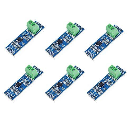 ZkeeShop 6Pcs 5V MAX485 / RS485 Module TTL to RS-485 MCU Development Board Converter Module