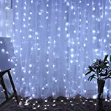 Connectable/ linkable: the ZSTBT curtain fairy lights can be connected multiple sets together, It can be controlled by the one controller after connected. (Note: We suggest that 2-3 sets connected together, otherwise, it will affect the brightness an...