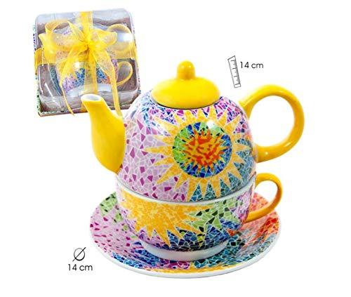 Set de té para uno Gaudí Multicolor