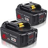 2個 Waitley マキタ BL1860 18V 互換 バッテリー 6.0Ah 6000mAh BL1830 BL1840 BL1850 BL1890 対応 リチウムイオンバッテリMakita互換電池 電動工具電池 残量指示付き