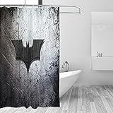 Why So Serious Joker Batman Duschvorhang, schimmelresistent, Standardgröße 167,6 x 182,9 cm, aus 100 prozent Polyester