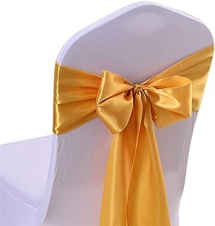 jingyuu satén Sillón Decoración Silla Cover Fundas de Silla Silla Asiento Decoración para Bodas Fiestas o como cumpleaños...