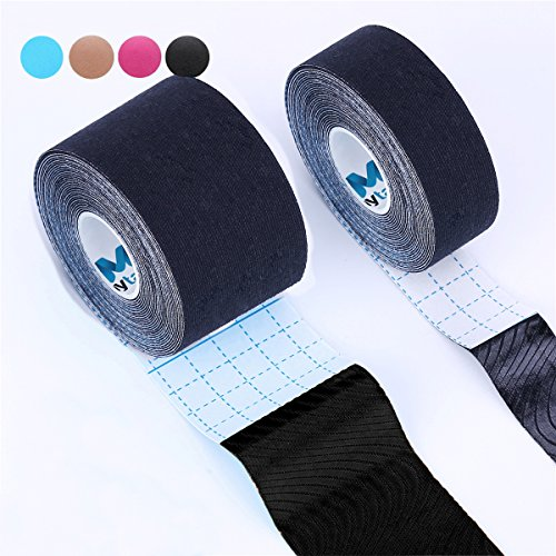 Kinesiology Tape Pro,Muscle Support Adhesive,Physio Therapeutic Recovery Sports Athletic Aid,Mytape,2 Uncut Rolls(2