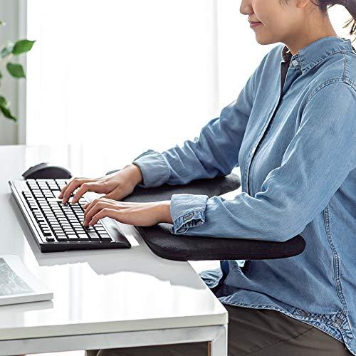 SYJY Soporte de brazo de computadora para oficina en casa, bandeja de teclado Extensor de escritorio, bandeja de ratón, plataforma de bandeja de ratón, reduce la oficina ocupacional crónica