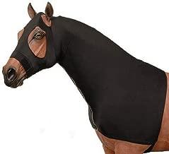 AJ Tack Wholesale Horse Slinky Hood Shoulder Guard Mane Keeper Lycra Full Zipper Fleece Band Black