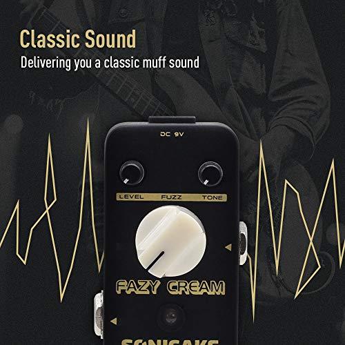 SONICAKE Fazy Cream True Bypass Vintage Fuzz Pedal de efectos de guitarra