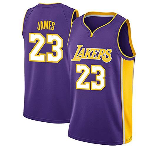 Ropa de baloncesto para hombre, Los Ángeles Lakers # 23 LeBron James Swingman Nba Jersey, Uniformes de baloncesto deportivo al aire libre Camiseta sin mangas Camiseta deportiva Chaleco superior,1,L
