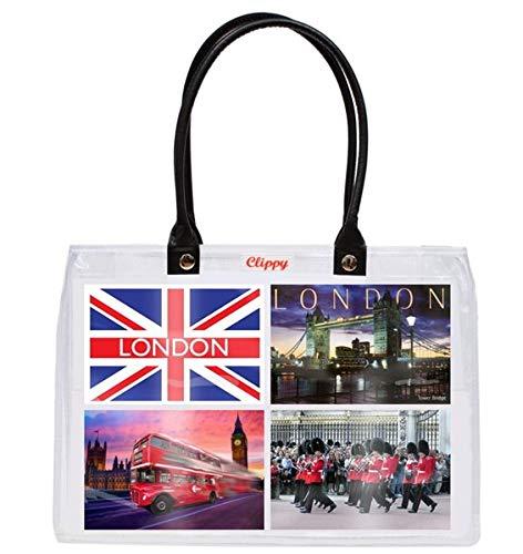 Clippy London Small Bag Fototasche: Tragetasche mit 8 Einsteckfächern - 10x15cm Version