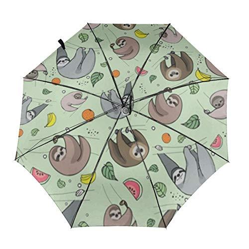 Untersetzer, winddichter Regenschirm, faltbarer Regenschirm, wasserabweisend, Teflon-Beschichtung, leicht, stark, winddicht, kompakter Reise-Regenschirm mit automatischem Öffnen und Schließen