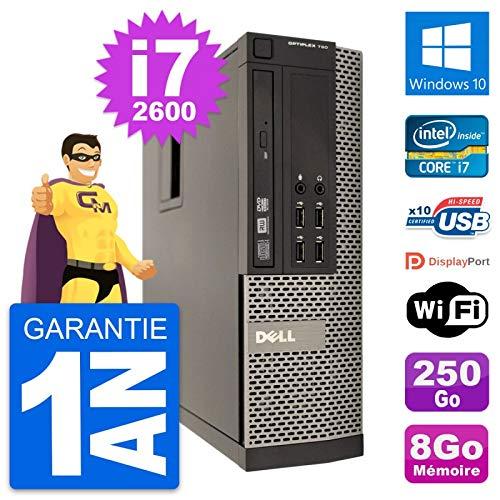 Dell PC OptiPlex 790 SFF Intel i7-2600 RAM 8 GB Festplatte 250 GB Windows 10 WiFi (überholt)