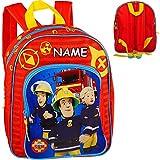 alles-meine.de GmbH Kinder Rucksack - Feuerwehr & Feuerwehrmann Sam - inkl. Name - Tasche -...