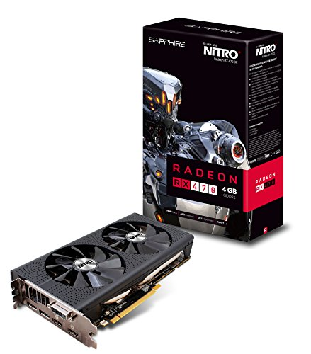 Sapphire 11256-01-20G NITRO Radeon RX 470 Grafikkarte (4GB, GDDR5) schwarz
