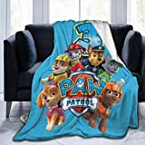Hankcles Paw Patrol Throw Blanket Fleece Warm Blanket Throw Size Lightweight Super Soft Cozy Bed Blanket Microfiber for Baby Girls Boys Child Teenager 50x40inch