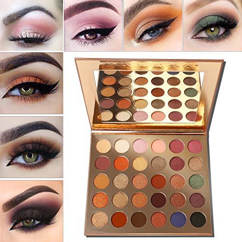 Lidschatten Palette Nudetöne,Eyeshadow Palette Afflano 30 Farben,Vegane Eye shadow...