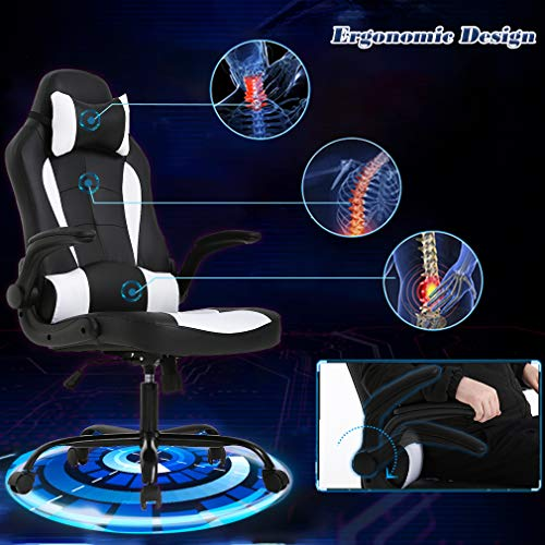 BestOffice-Office-Desk-Gaming-Chair-High-Back-Computer-Task-Swivel-Executive-Racingchair-for-for-BackSupport-with-Lumbar-Support-Adjust-Armrest