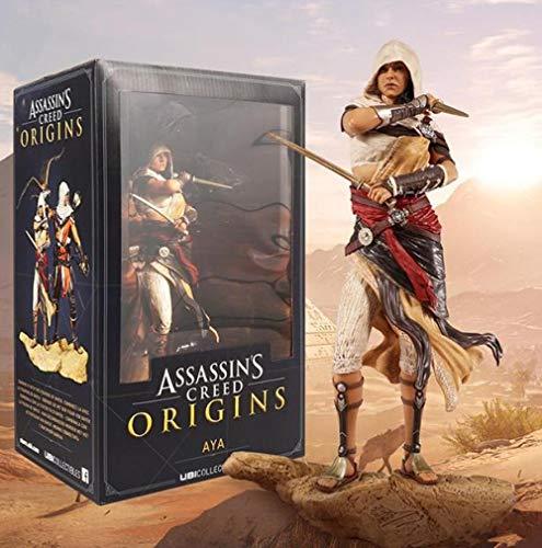 Nobranded Assassin's Creed Herkunft Bayek Aya Statue PVC Figur Sammler Spielzeug 26cm L003-Aya