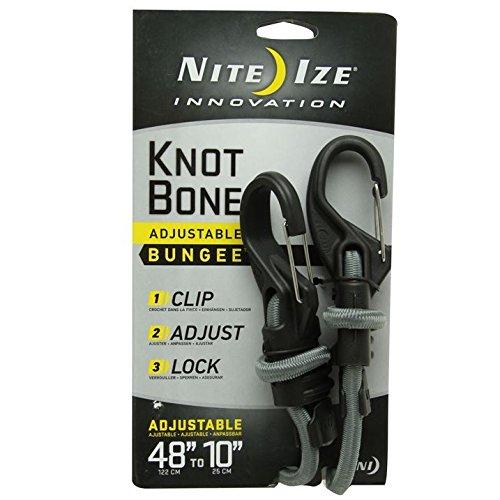 Nite Ize knotbone Bungee 9 mm cordon réglable, noir/gris, -