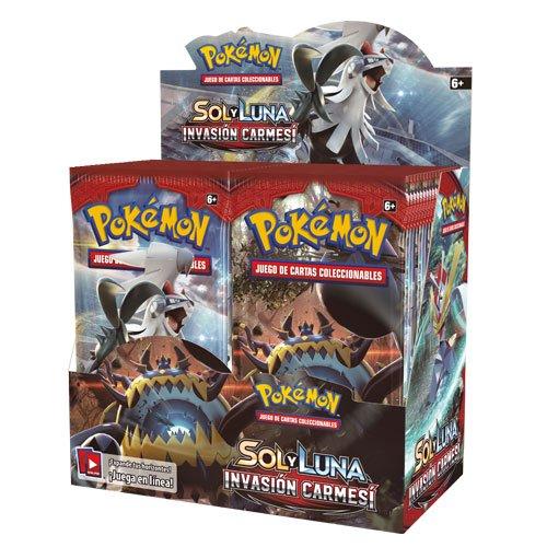 Pokemon JCC- Caja de 36 Sobres de: Sol y Luna: Invasión Carmesí sobre - Español, Color (The Pokémon Company POSMCI02D)