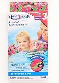 SWIMSCHOOL FABRIC ARM FLOATS BANDS-TOUCAN PRINT(PINK) 40-80 LBS(2+ years old)