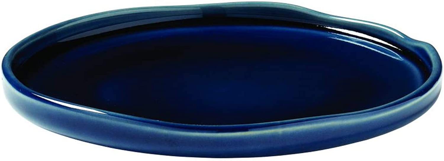 Visiodirect Lot de 6 Assiettes Azzuro Salade en grès 17,5 - bleu