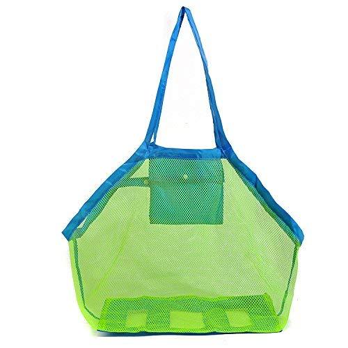 Weimay 1 grand sac de plage en maille - Vert