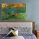 GYJDD Cuadros decoracionModernos Poster e Impresiones de la impresión del Amanecer de Claude Monet e...