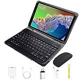 WiFi Tablet 8 Pulgadas HD 1280*800 IPS Android 10.0 Quad Core Google GMS DUODUOGO E8+ Tablet PC 3GB RAM 32GB ROM/128GB Escalables Double Cámara 5000mAh Type-C Bluetooth OTG (Negro + Teclado y Mouse)