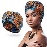 Turbante Africano Bufanda Anudada de Cabeza Preatada Diadema Elástica Bohemia