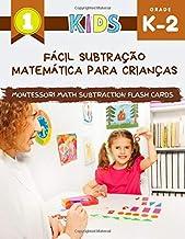 Fácil subtração matemática para crianças Montessori Math Subtraction Flash Cards: Grande livro de caderno de matemática com fotos. Meus primeiros jogos fáceis para o jardim de infância, 1º, 2º ano