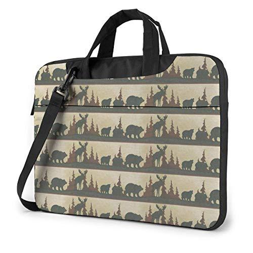 Laptop Sleeve Case, Moose Bear Portable Laptop Bag Business Laptop Shoulder Messenger Bag Protective Bag