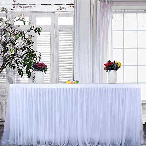iBaste 9ft Handgefertigte Tischdecke/Tischdeko Tutu Tischrock Für Party, Hochzeit, Geburtstag, Weihnachten, Festival, Carniva, Feier Tischdekoration