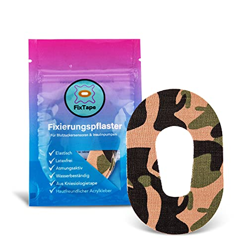 FixTape atmungsaktives Sensor-Tape für Dexcom G6 I selbstklebendes Patch mit Loch für Glukose-Sensor I hoher Trage-Komfort I hautfreundlich und wasserfest in modernen Designs I 7 Stück (Dschungel)