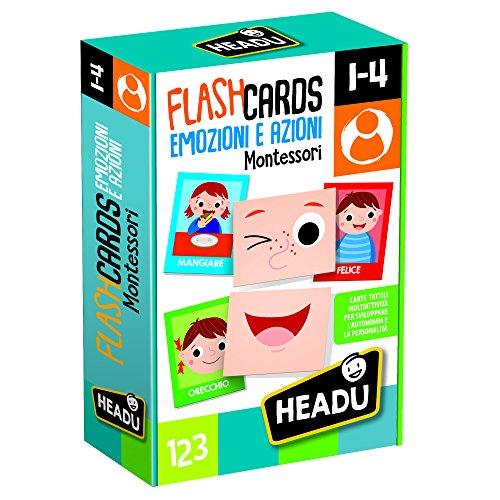Headu- Flashcards Montessori Emozioni e Azioni, IT20577