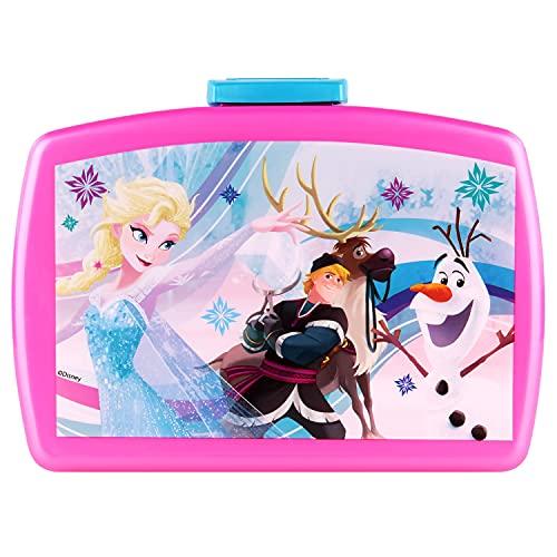 POS 24936 - Brotdose Premium mit Einsatz, mit Disney Frozen Motiv, circa 16 x 12 x 6,5 cm, aus Kunststoff, bpa- und phthalatfrei, ideal für das Pausenbrot, für Jungen und Mädchen