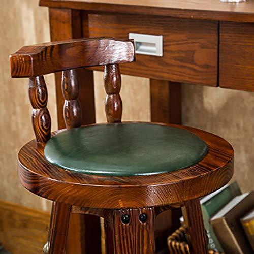 Barhocker Barhocker Massivholz Kuhfell Hochstuhl Sessel Haushalt Retro Front Desk Chair Hocker (Farbe : A2, größe : 72cm)