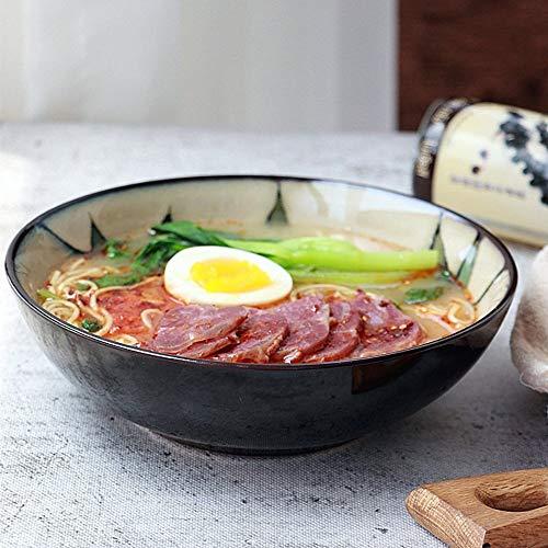 NO BRAND Inicio vajilla 8 Pulgadas vajilla de cerámica/Fresca pequeña Plato de Fideos/Hoja tazón de Sopa/ensaladera/tazón de arroz tazón tazón de Fruta