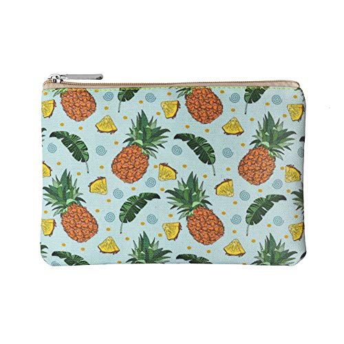Rantanto Canvas Pencil Holder Case Pen Stationary Pouch Cosmetic Makeup Bag (CPH012 Pineapple)