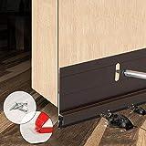 BAINING Door Sweep, Under Door Draft Stopper Bottom Seal Strip Noise Blocker, Made of Aluminium Anti Mouse Bite 2' W x 36.5' L, Brown