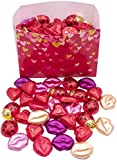 MADE IN USA Individually Foil-Wrapped Valentine's Day Milk Chocolates (Assorted - 2 lb) (Red Hearts)
