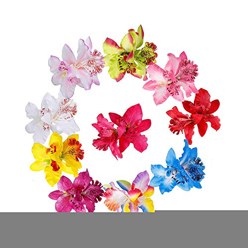 Lot de 10 barrettes à cheveux en forme de fleur d'orchidée
