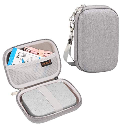 Canboc Shockproof Carrying Case Storage Travel Bag for HP Sprocket Portable Photo Printer and (2nd Edition) / Polaroid Zip Mobile Printer/Lifeprint 2x3 Portable Protective Pouch Box,Gray